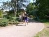 Die Läufer stehen in den Startlöchern für den Zooparklauf